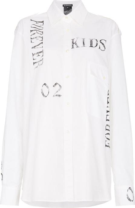 Ann Demeulemeester Oversized shirt with text print