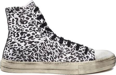 Amiri Vintage glitter leopard sneakers