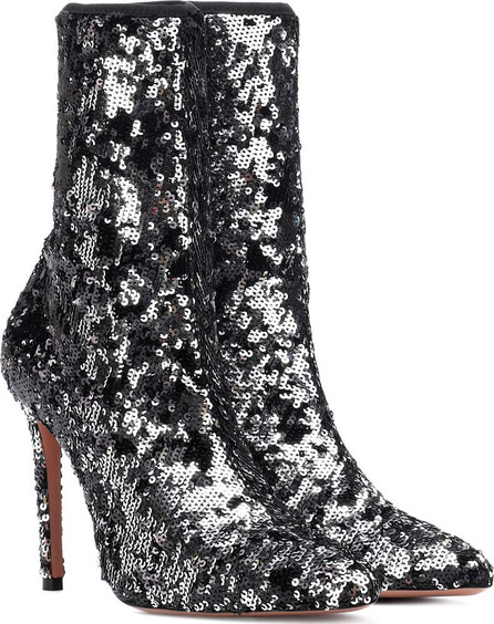 Aquazzura Costes 105 sequined ankle boots