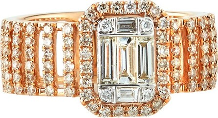 Andreoli 18k Pavé & Baguette Wide Diamond Ring, Size 7