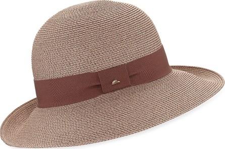 Frasconi Paper Braid Cloche w/ Ribbon Hat Band