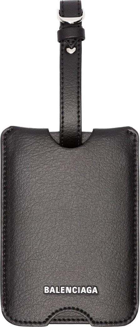 Balenciaga Leather luggage label