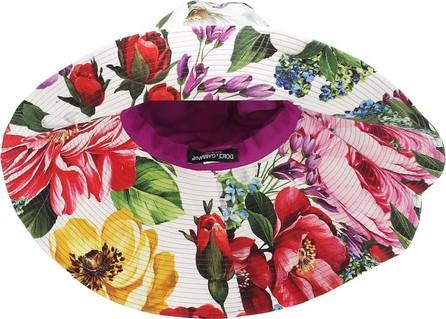 Dolce & Gabbana Floral cotton wide-brim hat