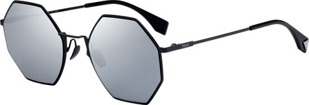 Fendi Geometric Mirrored Metal Sunglasses