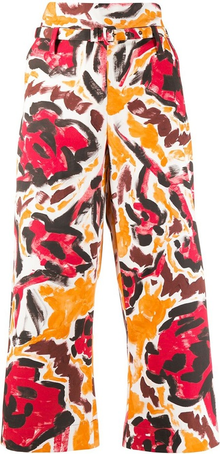 Marni Printed cropped trousers