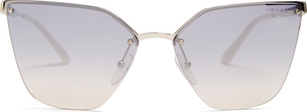 Prada Mirrored cat-eye metal sunglasses