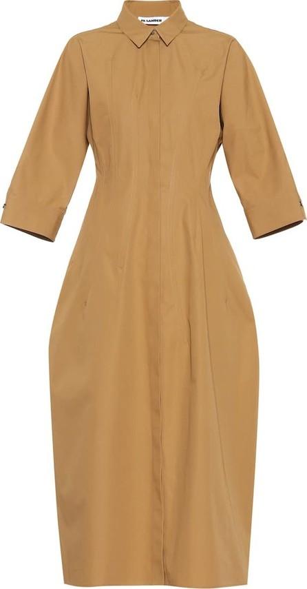 Jil Sander Collared cotton maxi dress