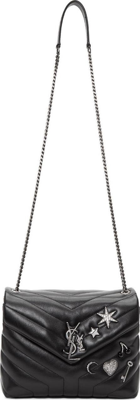 Saint Laurent Black Small Monogram Soft Chain Bag