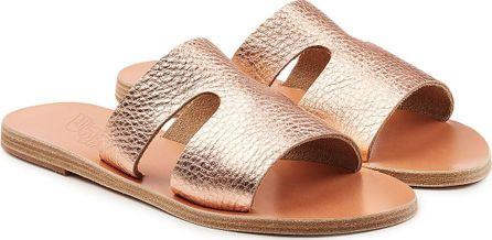 Ancient Greek Sandals Apertos Metallic Leather Sandals