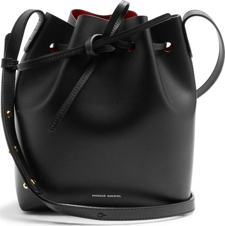 Mansur Gavriel Red-lined Mini leather bucket bag