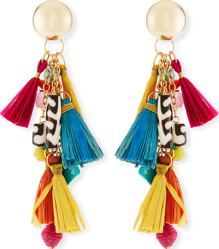 "Akola Tassel Statement Earrings, 3""L"