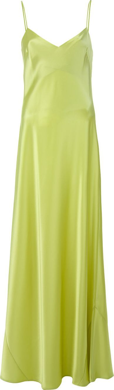 Galvan V-neck slip dress