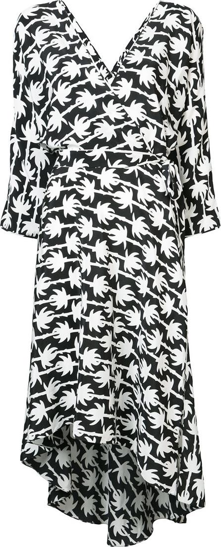 DIANE von FURSTENBERG Palm print wrap dress
