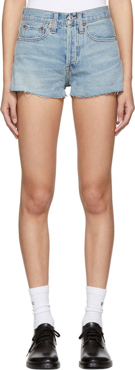 RE/DONE Blue Originals Denim Shorts