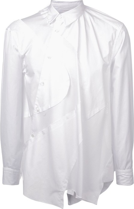 Comme Des Garçons Homme Plus Asymmetric mesh panel shirt