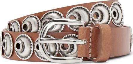 Isabel Marant Zaphi 2cm Tan Embellished Leather Belt