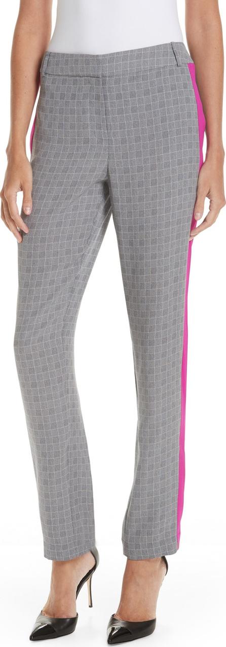 GREY Jason Wu Side Stripe Check Silk Pants