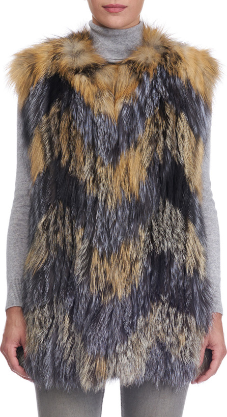 Gorski Cross Fox and Silver Fox Fur Vest