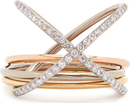 Charlotte Chesnais XXO diamond & gold ring