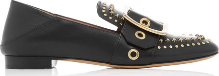 Bally Janelle Studded Leather Slippers