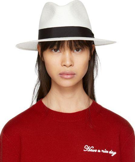 Rag & Bone White Panama Hat