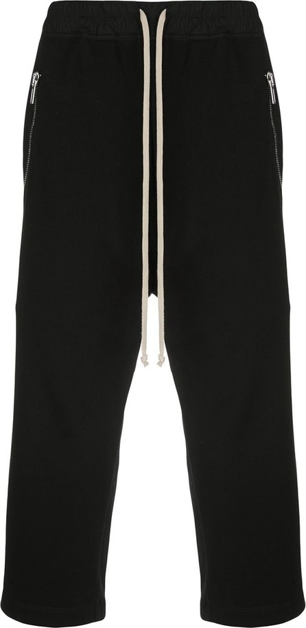 Rick Owens Cropped zip pocket track pants