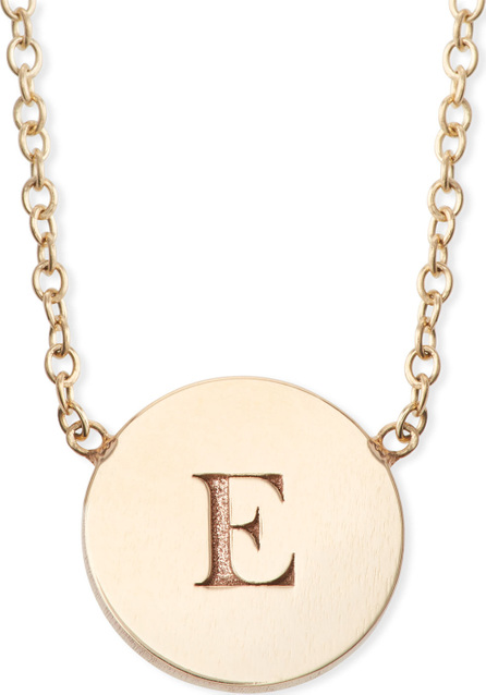 Zoe Chicco 14k Personalized Initial Engraved Disc Pendant Necklace