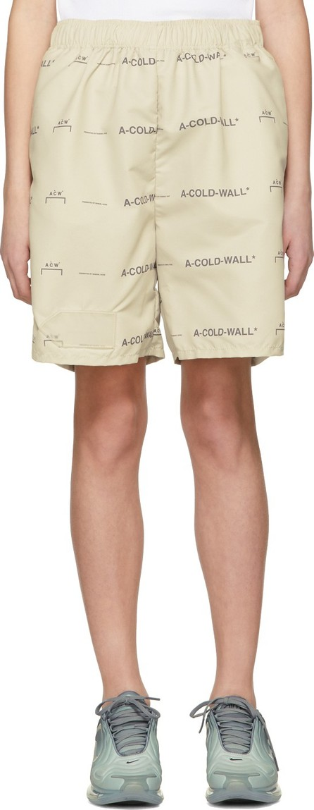 A-Cold-Wall* Beige Logo Shorts