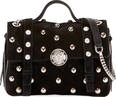 Balmain Baby Soft Pearly Flap Shoulder Bag