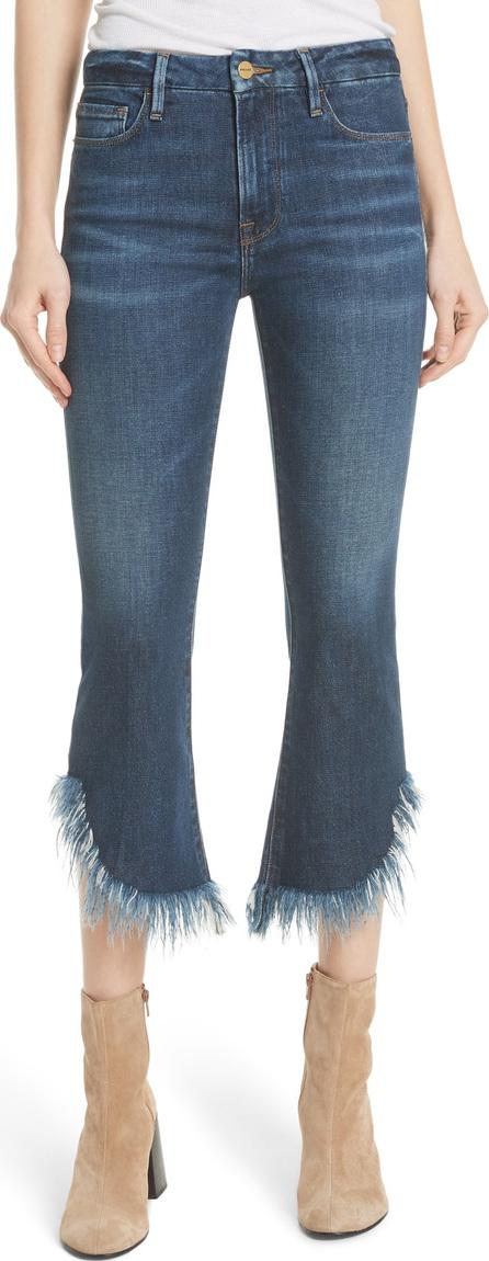 FRAME DENIM Le Crop Mini Boot Shredded Crop Hem Jeans