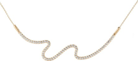 Carelle Brushstroke No. 62 Necklace with Diamonds
