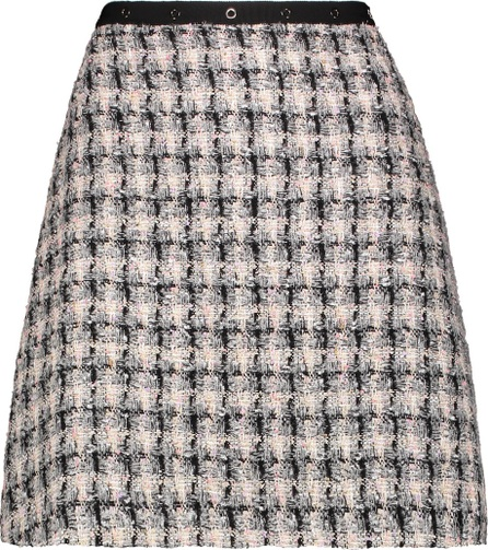 GIAMBA Checked bouclé-tweed mini skirt