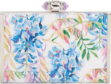 Judith Leiber River Blossoms Tall Slender Rectangle Evening Clutch Bag
