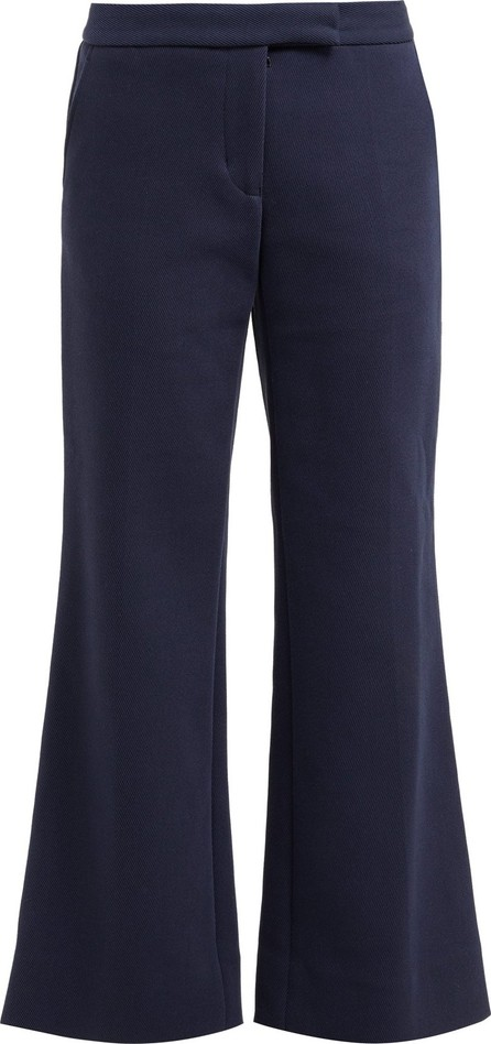 Marina Moscone Kick-flare twill trousers