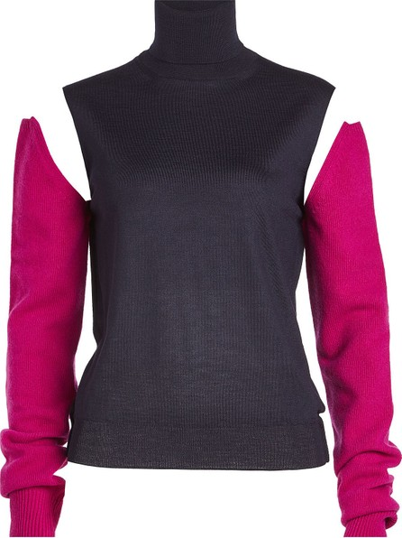 Calvin Klein 205W39NYC Wool Turtleneck Pullover with Detachable Sleeves