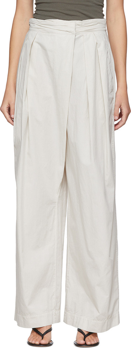 Lemaire Off-White Asymmetrical Trousers