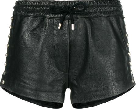 Moschino Embellished leather shorts