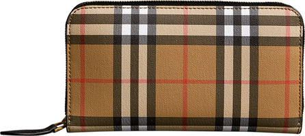 Burberry London England Vintage Check Bonded Leather Elmore Wallet