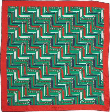Gucci Chain Print Silk Bandana