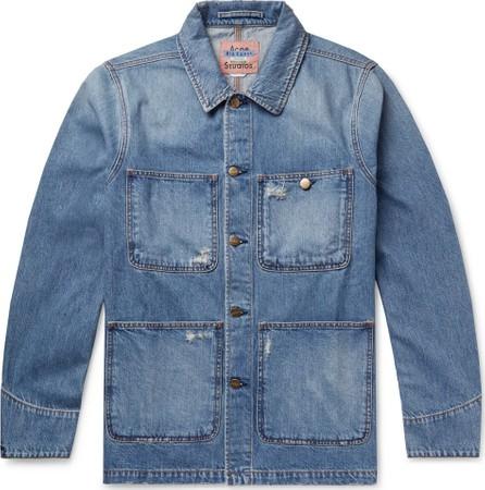 Acne Studios Albyr Distressed Denim Chore Jacket