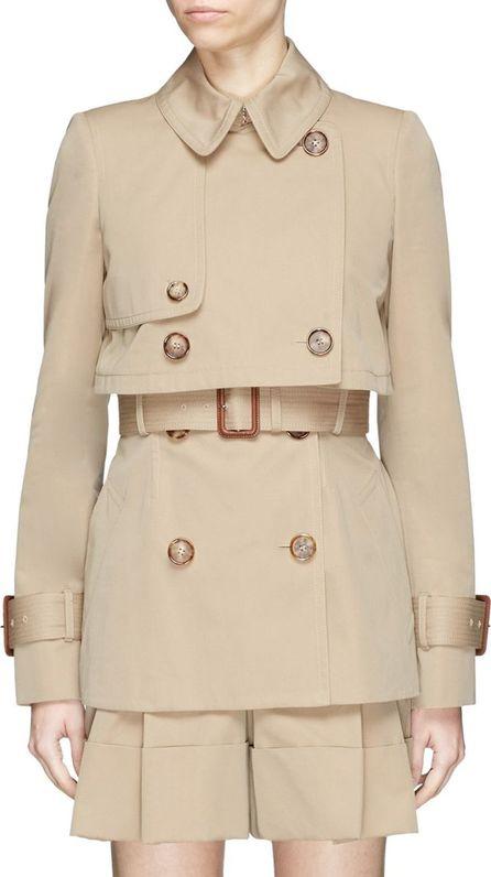 Alexander McQueen Belted layered gabardine trench coat