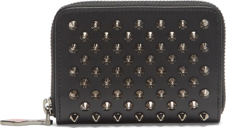 Christian Louboutin Panettone spike-embellished leather coin purse
