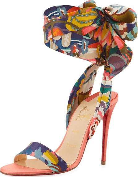 Christian Louboutin Sandale Du Desert Red Sole Sandal