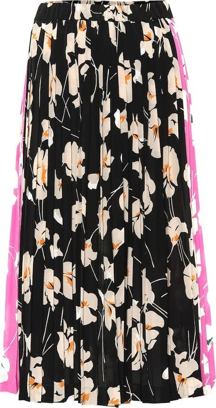N°21 Floral-printed silk skirt