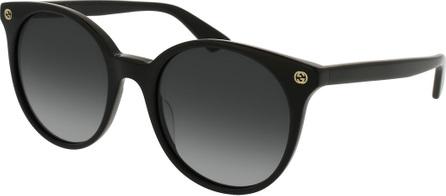 Gucci Round Gradient Acetate Sunglasses, Black