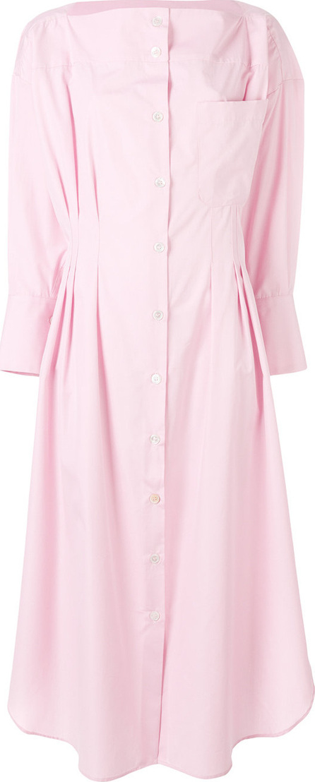 Erika Cavallini Gathered midi shirt dress