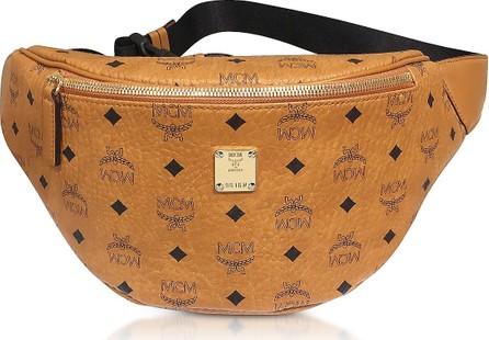 MCM Cognac Stark Medium Belt Bag