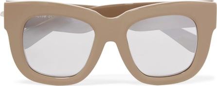 Acne Studios Library D-frame mirrored acetate sunglasses