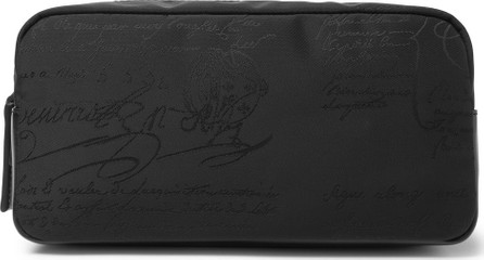 Berluti Leather-Trimmed Nylon-Jacquard Wash Bag