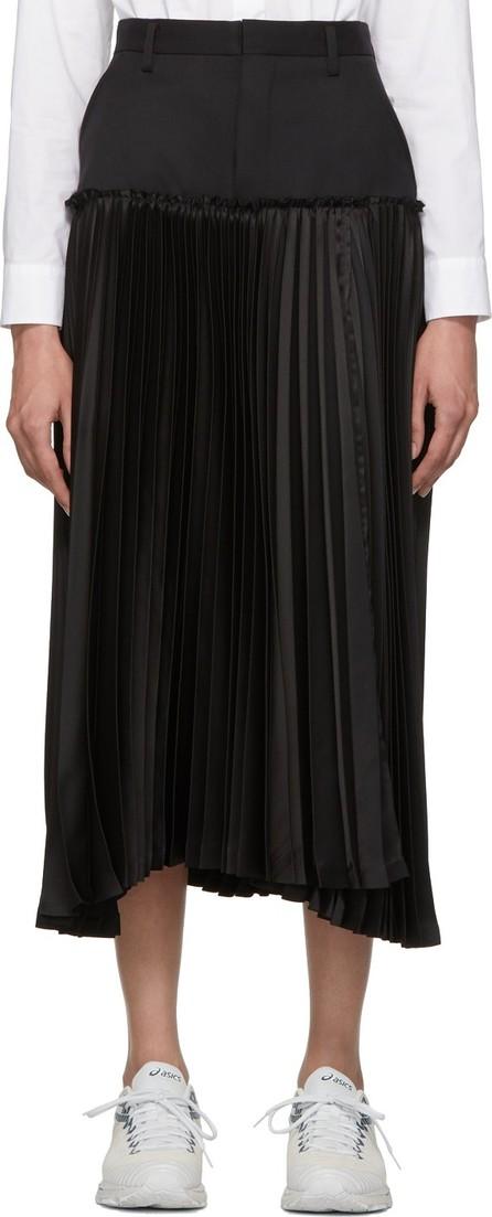 Noir Kei Ninomiya Black Pleated Skirt